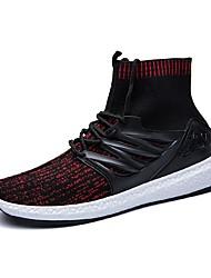 preiswerte -Herrn Schuhe Gestrickt Frühling Herbst Leuchtende Sohlen Sneakers Drapiert für Normal Weiß Rot Grün