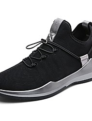 cheap -Men's Shoes Breathable Mesh Fall Winter Comfort Sneakers Lace-up For Casual Black