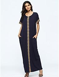 cheap -Women's Going out Street chic Jalabiya Dress - Geometric Print Maxi / Summer / Loose