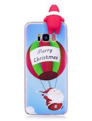 Coque Pour Samsung Galaxy S8 Plus S8 Motif A Faire Soi-Même Coque Arrière Dessin Animé 3D Noël Flexible TPU pour S8 S8 Plus S7 edge S7