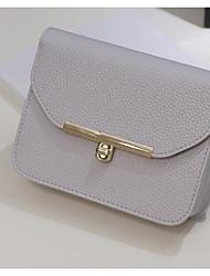 preiswerte -Damen Taschen PU Schultertasche Knöpfe Reißverschluss für Normal Ganzjährig Weiß Schwarz Rosa Grau Purpur