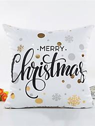 1 pcs Autres Housse de coussin,Mot / Phrase Style Noël