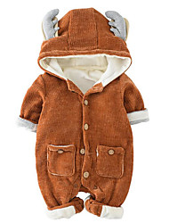 Baby Solid Color One-Pieces,100%Cotton Fall Winter