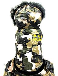 Chien Combinaison-pantalon Vêtements pour Chien Chaud Décontracté / Quotidien Formes Géométriques Couleur camouflage Costume Pour les