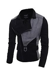 cheap -Men's Active Street chic Boho Cotton Jacket-Color Block,Patchwork