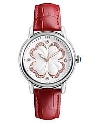 SKMEI Жен. Наручные часы Кварцевый Натуральная кожа Группа Листья Черный Белый Красный Зеленый