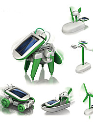 cheap -6 IN 1 Robot Solar Powered Toy Plane / Aircraft Windmill Ship Solar Powered DIY Education Kid's Toy Gift 1 pcs