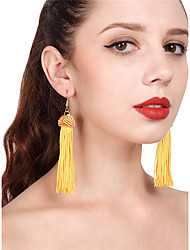 Women's Drop Earrings Hoop Earrings Tassel Sexy Cotton Ball Jewelry For Party Daily