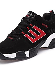 Men's Shoes Rubber Spring Fall Comfort Athletic Shoes Lace-up For Outdoor Black/Red Black/Silver