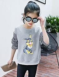 abordables -Blusa Chica Estampado animal Algodón Invierno Otoño Gris