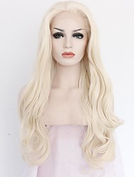 Women Synthetic Wig Lace Front Medium Length Long Wavy Straight Natural Wave Loose Wave Body Wave Light Blonde Party Wig Celebrity Wig