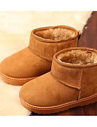baratos -Para Meninas Sapatos Camurça Outono / Inverno Botas de Neve / Forro de fluff Botas para Fúcsia / Café / Khaki