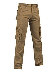 economico -Per uomo Taglie forti A vita medio-alta Casual Anelastico Dritto Pantaloni della tuta Cargo Pants Pantaloni, Tinta unita Primavera Autunno