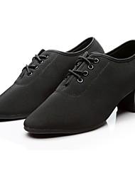 cheap -Women's Modern Shoes Oxford Sneaker / Full Sole Chunky Heel Customizable Dance Shoes Black / Red