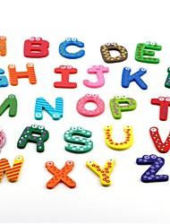 Недорогие -26pcs / set новые дети игрушки деревянные мультфильм алфавит abc ~ xyz магниты ребенок образовательный деревянный подарок игрушки
