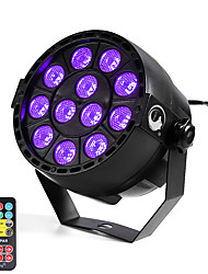 cheap -U'King ZQ-B187B#YK 12W 12 LEDs Purple Color DMX Sound Activated Par Stage Lighting with 1 Remote Control for Disco Party Club KTV Wedding