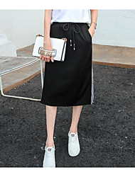 Women's Going out Knee-length Skirts Pencil Color Block Summer