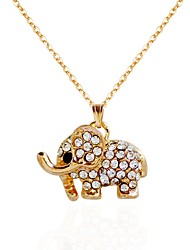 cheap -Women's Flower Rhinestone Choker Necklace Pendant Necklace Chain Necklace  -  Animal Gold Silver Necklace For Party Birthday Party /