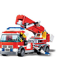 Building Blocks Fire Engine Vehicle Toys Vehicles Boys Boys' 244 Pieces