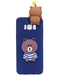 preiswerte -Hülle Für Samsung Galaxy S8 Plus S8 Muster Heimwerken Rückseite 3D Zeichentrick Cartoon Design Weich TPU für S8 Plus S8 S7 edge S7 S6