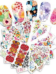25 Adesivi per manicure Fantasia Accessori Toelettatura Art déco/Retrò Sticker per il trasferimento di acqua Effetto 3D Cartoni animati