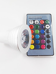 cheap -300 lm GU10 LED Spotlight MR16 1 leds High Power LED Dimmable Decorative Remote-Controlled RGB AC 100-240V