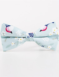 cheap -Men's Rayon Cotton Blend Bow Tie,Pattern Print All Seasons Beige Light Blue