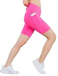 preiswerte -Damen Laufschuhe Fitness, Laufen & Yoga Shorts/Laufshorts Yoga Rennen Leger Schlank Schwarz Rot Blau Rosa Grau XS S M L XL