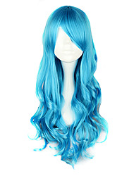 cheap -Lolita Wigs Classic/Traditional Lolita Blue Lolita Lolita Wig 70 CM Cosplay Wigs Solid Wig For