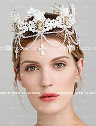 Imitation Pearl Rhinestone Tiaras Headpiece