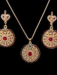 baratos -Mulheres Zircônia Cubica Conjunto de jóias Brincos / Colares - Arco-íris Para Casamento / Festa