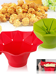 Microwave Silicone Popcorn Maker Magic Household Container Healthy Cooking Tools Random Color