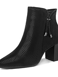 cheap -Women's Shoes Synthetic Fall / Winter Fashion Boots / Bootie Boots Booties / Ankle Boots Black / Black / Silver / Party & Evening