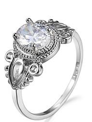 Herrn Damen Knöchel-Ring Verlobungsring Kubikzirkonia Modisch Luxus-Schmuck Klassisch Elegant Zirkon Kupfer Geometrische Form Schmuck Für