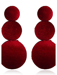 cheap -Women's Stud Earrings Drop Earrings Jewelry Fashion Simple Style Cloth Alloy Round Jewelry For Daily Office & Career