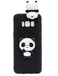 Недорогие -Кейс для Назначение SSamsung Galaxy S8 Plus S8 С узором Своими руками Кейс на заднюю панель Панда 3D в мультяшном стиле Мягкий ТПУ для S8