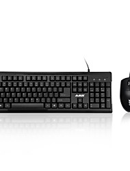 cheap -AJAZZ X1080 USB Wired Laptop PC Pro Office Keyboard Mouse Combo