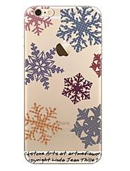 preiswerte -Hülle Für Apple iPhone X iPhone 8 iPhone 8 Plus Transparent Muster Rückseitenabdeckung Weihnachten Weich TPU für iPhone X iPhone 8 Plus