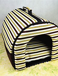 cheap -Cat Dog Bed Pet Mats & Pads Stripe Leopard Red Black