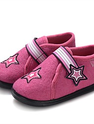 cheap -Girls' Shoes Wool Winter Vulcanized Shoes First Walkers Comfort Loafers & Slip-Ons Appliques Magic Tape for Casual Fuchsia