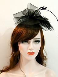 economico -copricapo in rete piuma copricapo fascinator classico stile femminile