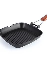 Недорогие -24cm открытый кемпинг складной портативный сковорода