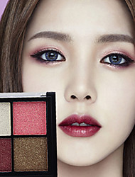 cheap -4 Eyeshadow Palette Matte Shimmer Mineral Eyeshadow palette Daily Makeup Halloween Makeup Party Makeup Fairy Makeup Cateye Makeup Smokey