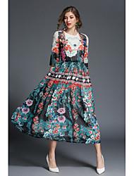 cheap -SHE IN SUN Women's Work Street chic Swing Dress - Floral Maxi