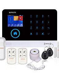 cheap -KONLEN® H36 Wireless WIFI GSM Home Security Alarm System LCD Voice Multi-languages for Home House Burglarproof Anti-theft SMS Call Android IOS App