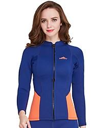 Femme 2mm Combinaisons étanches Séchage rapide Spandex Tenue de plongée Manches Longues Vêtements de Compression/Sous maillot-Natation