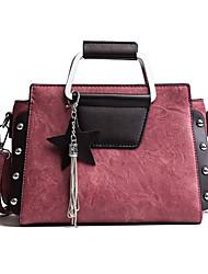 cheap -Women Bags PU Tote Zipper for Shopping Casual All Seasons Black Blushing Pink Gray Brown