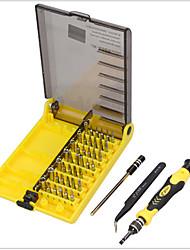 baratos -45 em 1 chave de fendas conjunto abertura ferramentas de reparo kit injeção hexadecimal com pinças extensão eixo eletrônica reparação