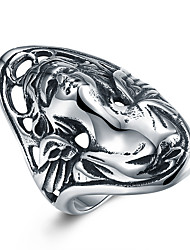 Women's Knuckle Ring Hip-Hop Personalized Stainless Steel Titanium Steel Irregular Jewelry For Halloween Street