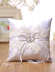 cheap -Laces Satin Silk Ring Pillows Wedding Ceremony Wedding Classic Theme